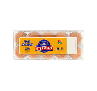 Gyermelyi eggs 10 pcs/plastic box