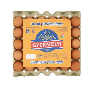 Gyermelyi egg Disinfected 30 pcs box